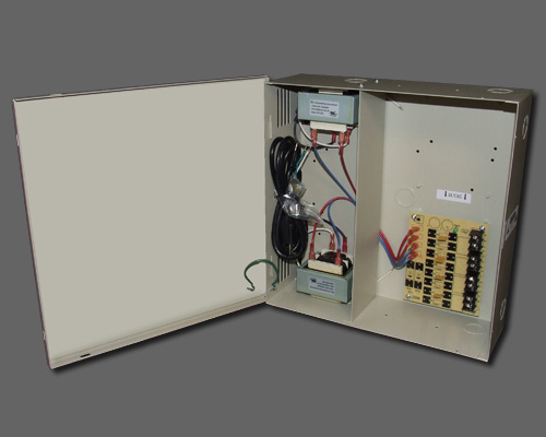 AC 4-2-2UL - 4 output PTC protected 8.4 amp 24VAC power supply