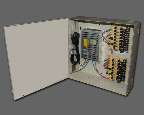 DCR 16-12-2UL - 16 output PTC protected DC regulated 12 amp UL listed power supply