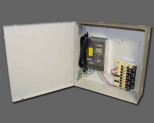 DCR 8-8-2UL - 8 output PTC protected DC regulated 8 amp UL listed power supply